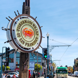 Fisherman's Wharf Landmark Sign - Around the Corner From Hotel