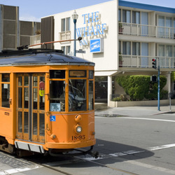 Fisherman's Wharf Trolley Passing By on Beach Street